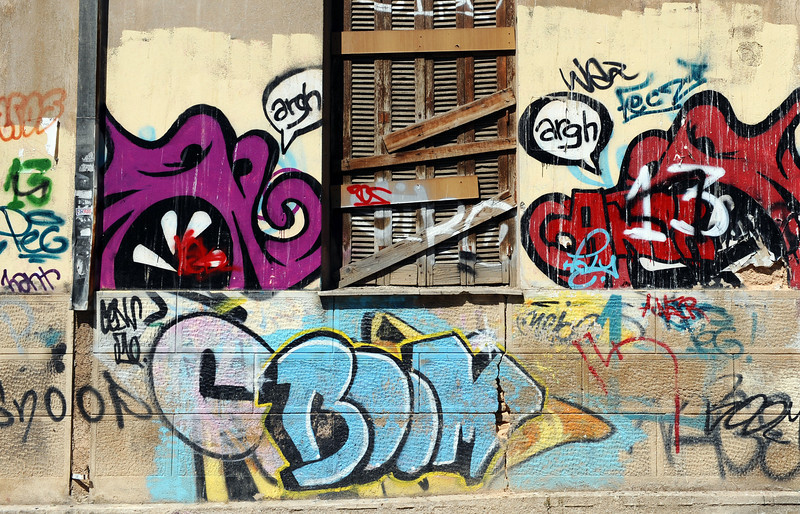 Graffiti in Athens suburb, Greece