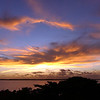 Sunset over the Bahia de Jagua along the south-central coast of Cuba