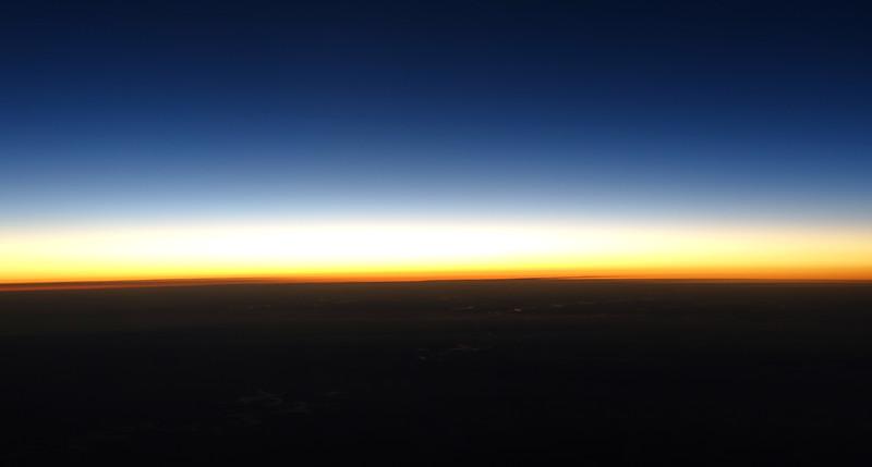 Spectral twilight over central Brazil
