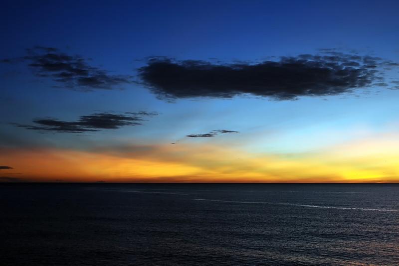 Winter dawn along the coast near Alicante, Spain