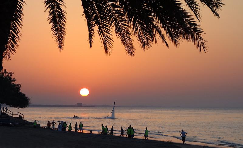 Seaside fun at Shatti al Qurm, Oman