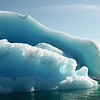 Layered iceberg with 'blue-ice', west Greenland