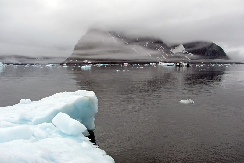 Southern end of the Luciakammen mountain ridge in Burgerbukta, Svalbard