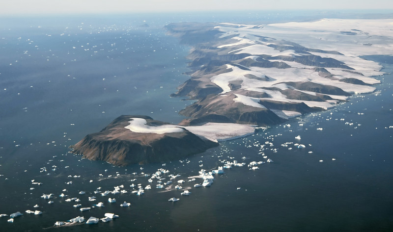 Short glaciers on Cape York in northwest Greenland (75º North)
