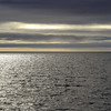 Calm summer evening over the offshore Isfjord Bank, western Svalbard