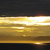 Midnight sun at Longyearbyen, Svalbard
