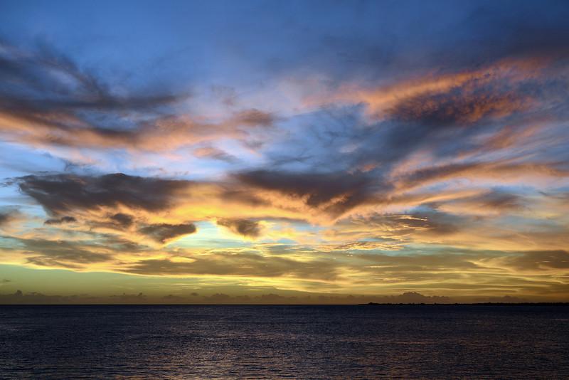 Fiery sunset over Klein Bonaire