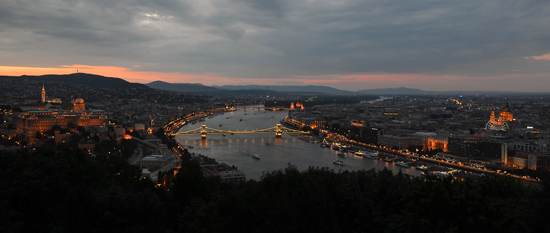 Twilight over Budapest, Hungary
