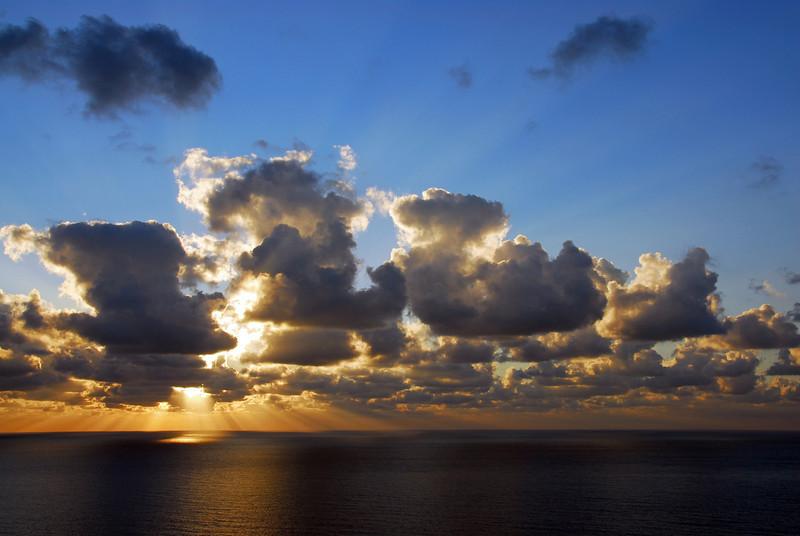 Winter sunset in Malta