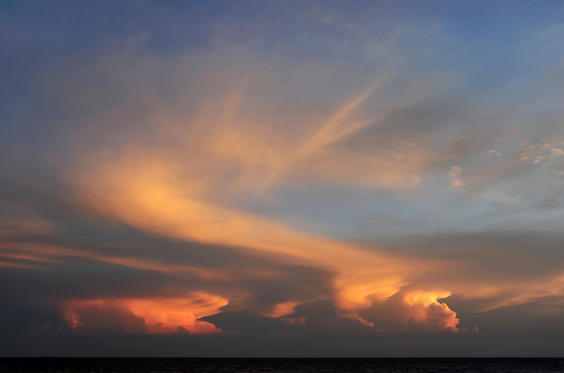Thunderclouds over the Paraguana Peninsula in north Venezuela