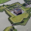 Muiderslot castle at the entrance to Muiden harbour, The Netherlands