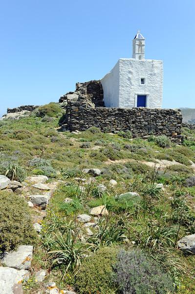 Rural chapel near the village of Tarabados on Tinos island, Greece