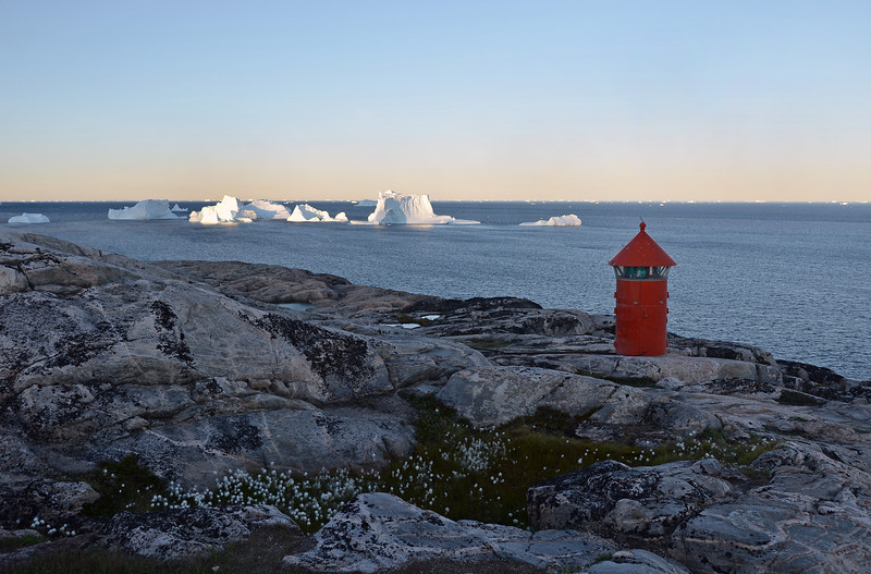 Coastal cliffs at Qeqertarsuaq, Disko Island, Greenland