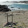Crosses along the Skeleton Coast, Namibia