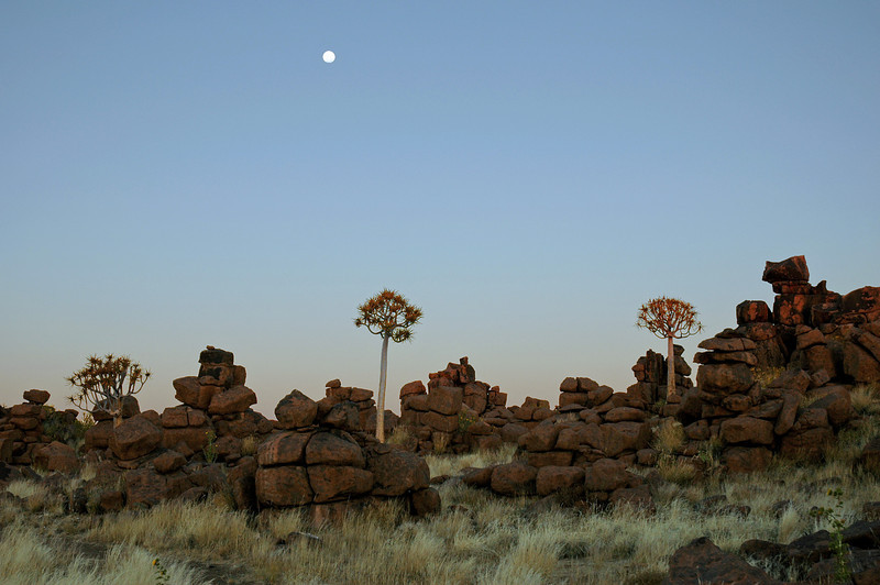 "Dusk at ""Giant's Playground"", southern Namibia"