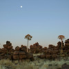 """Dusk at """"Giant's Playground"""", southern Namibia"""