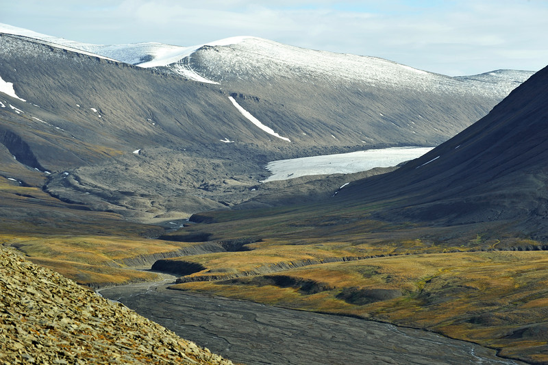 Terminal moraine of the retreating Richter glacier, Svalbard