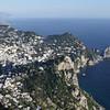 Western Capri and Amalfi coast viewed from the church of Santa Maria di Cetrella, Italy
