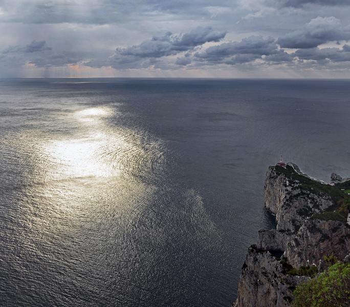 Punta Carena lighthouse on Capri, Italy