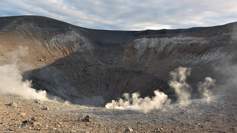 Steam venting within the central crater of Vulcano, Italy