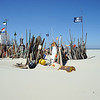 Beach refuge on Vlieland, The Netherlands