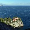 Villa Malaparte (1937) at Punta Massullo on Capri, with the Amalfi coast in the background, Italy