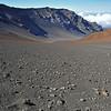 Barren valley in the Haleakala volcano, Maui, Hawaii
