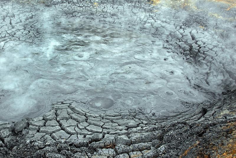 Boiling mud pool, southwest Iceland