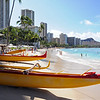 Waikiki beach in Honolulu, Oahu Island, Hawaii