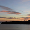 Winter sunset over the island of Procida, Italy