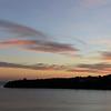 Winter sunset over the island of Procida, Italy