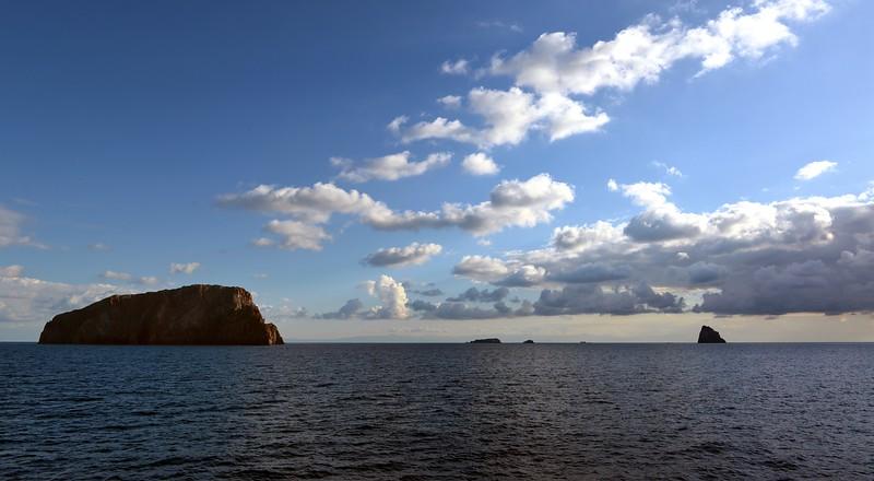 Volcanic islets in the Tyrrhenian Sea, east of Panarea island, Italy