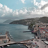 Overlook of Lipari harbour, Italy