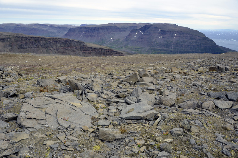 Flat-topped basaltic mountains on southwest Disko Island, west Greenland