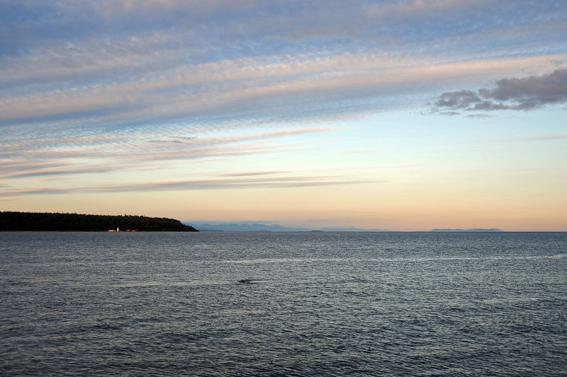 Late afternoon skies above Cape Mudge lighthouse, Quadra Island, west Canada