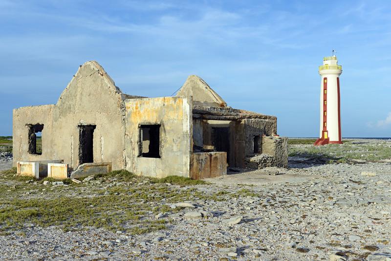 Abandoned lighthouse keeper's home on southeast Bonaire