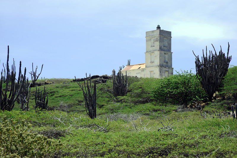 Seru Bentana lighthouse in Washington/Slagbaai National Park in northwest Bonaire