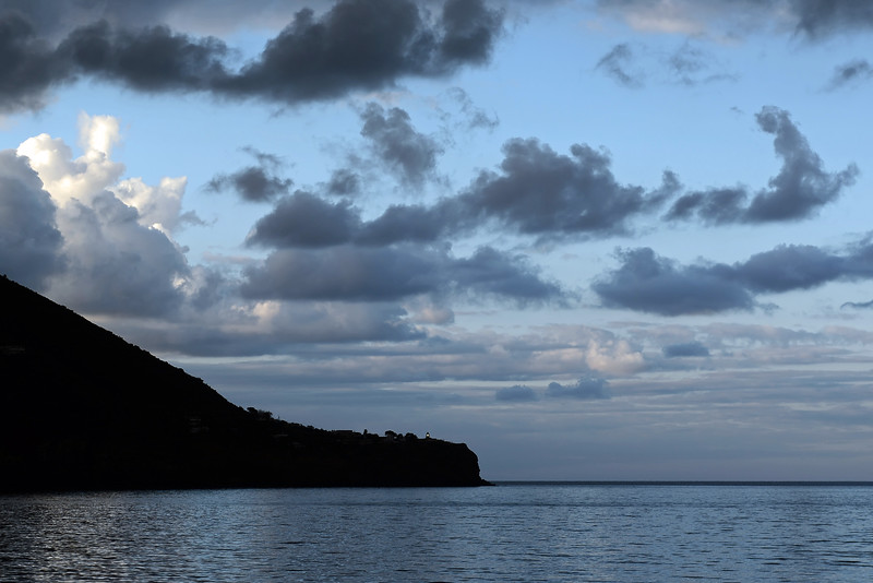 Capo Faro lighthouse on the island of Salina, Eolian Islands, Italy
