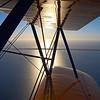 Boeing Stearman biplane reflections, Perth, Australia
