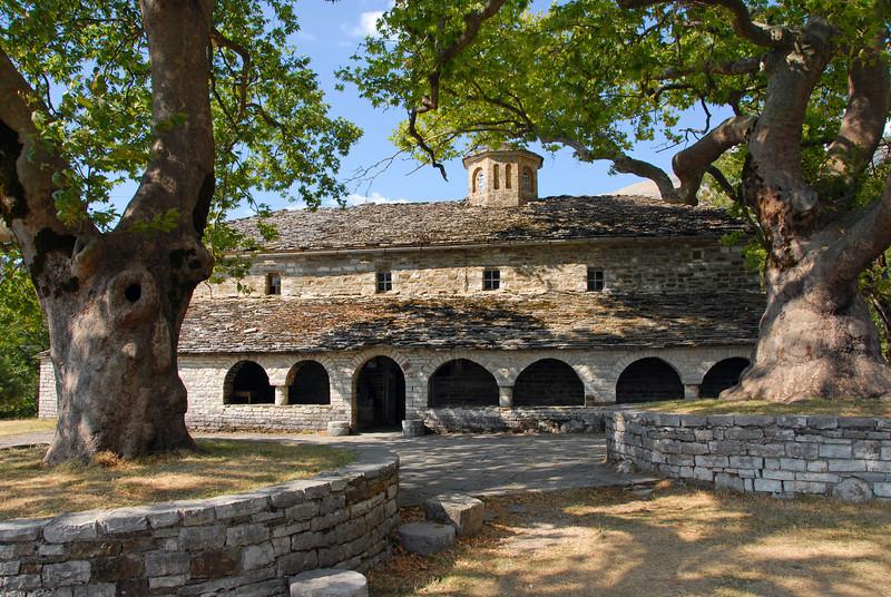 Old church in Mikro Papingo, Zagoria region in Greece