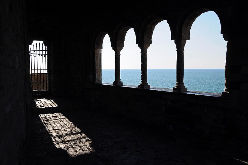 Church on coastal cliff in Portovenere, Italy