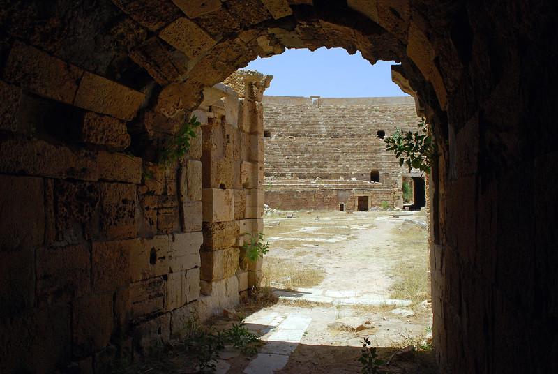 Roman amphitheatre in Leptis Magna, Libya