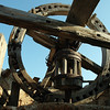 Decapitated old windmill on Rhodes, Greece