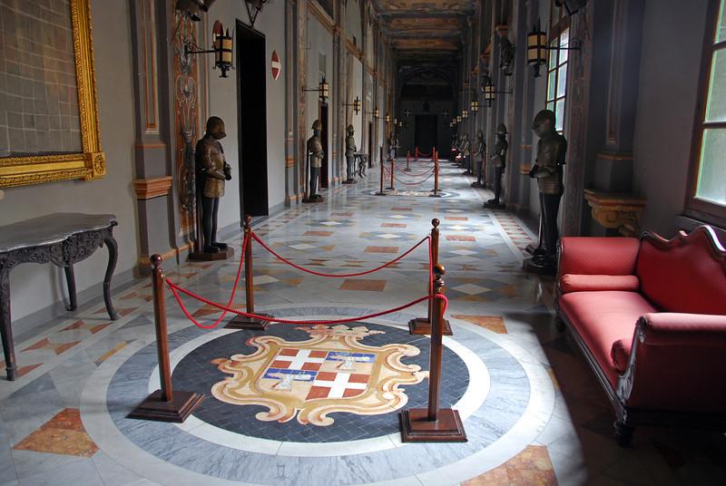 Corridor in the Grand Master's palace in Valetta, Malta