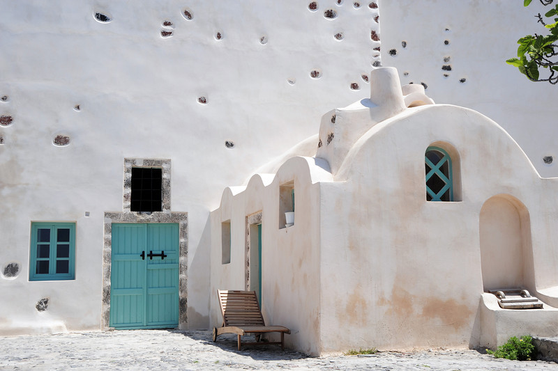 Cycladic-style architecture in Santorini, Greece