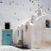Cycladic-style architecture in Santorini, Greece