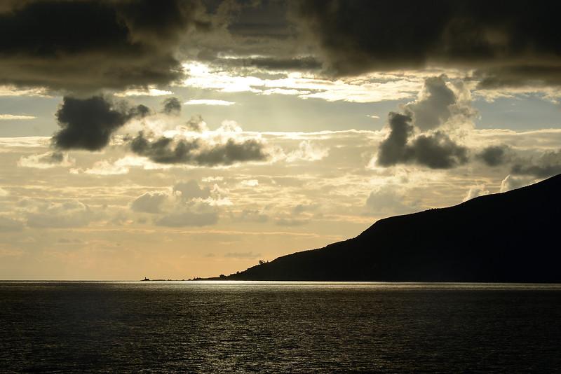 Lingua lighthouse on Salina, Eolian Islands, Italy