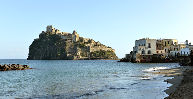 Castello Aragonese on the island of Ischia, Italy