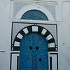 Villa entrance in Sidi Bou Said, Tunisia