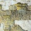 Weathered wall constructed of soft limestones, Gozo, Malta
